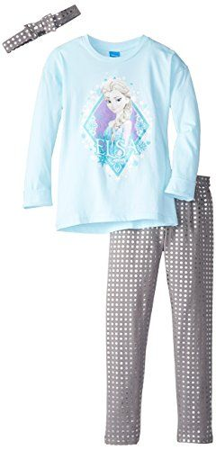 Disney Little Girls' Frozen Aqua Tunic Legging Set