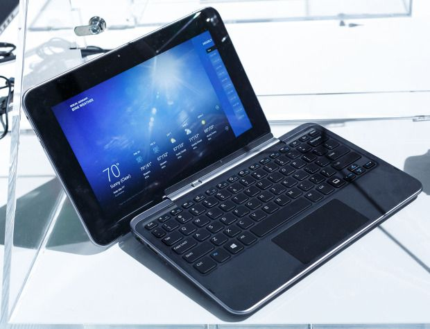 Dell XPS 10 Windows RT tablet at the IFA consumer-electronics show in Berlin. with a detachable keyboard.
