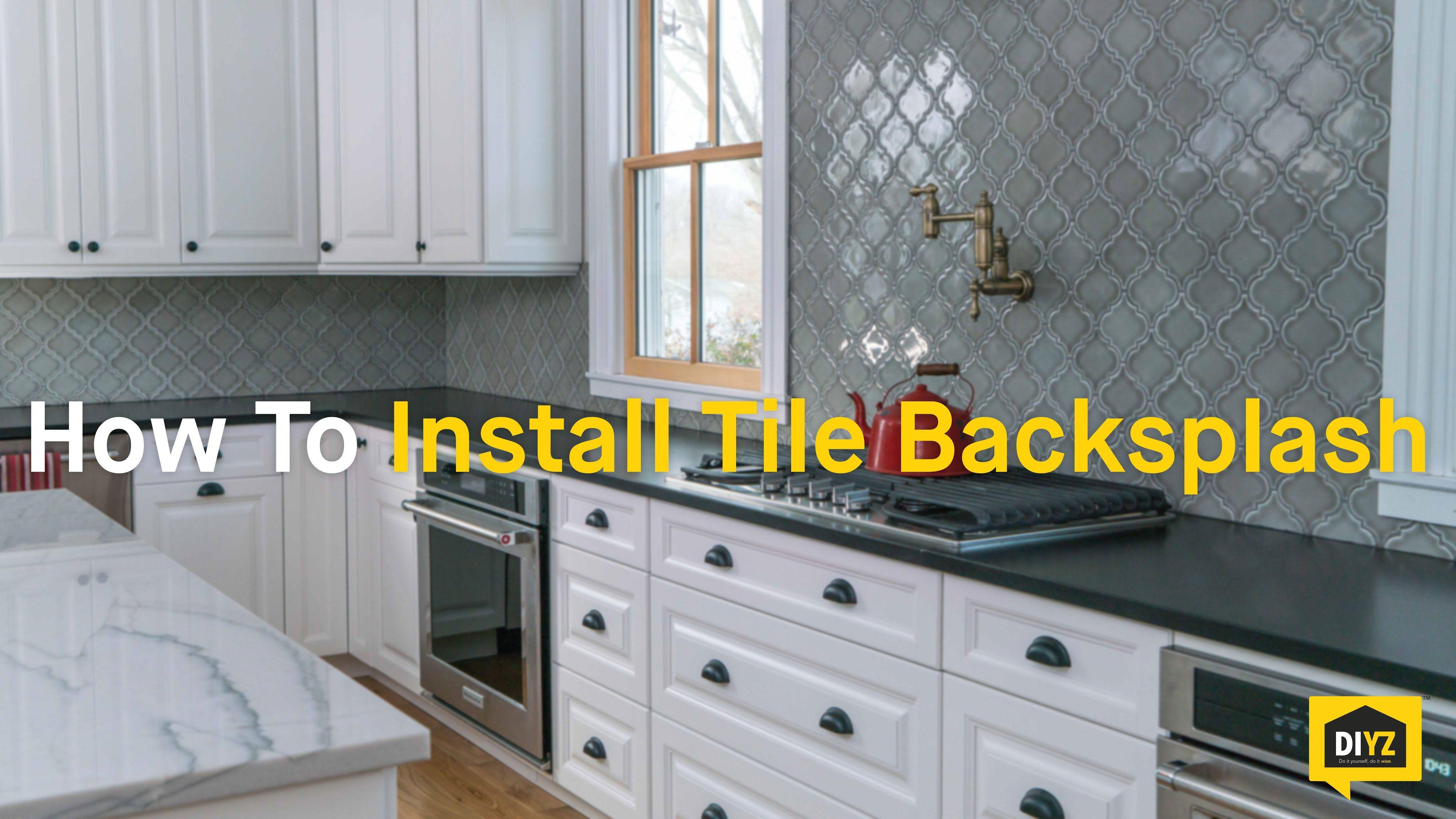 How To Install Tile Backsplash Youtube Tile Installation