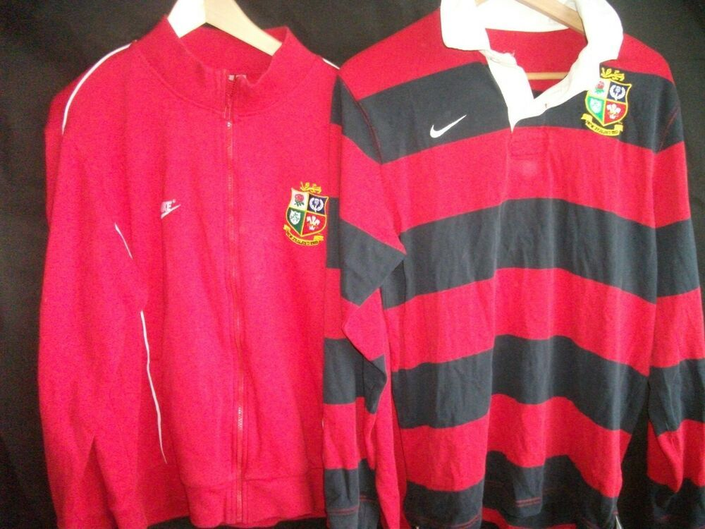 Two Vintage 1993 Nike British Lions Rugby Shirts Jacket In 2020 British Lions Rugby Rugby Shirt Lions Rugby