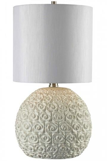 This Tavelle Table Lamp Would Compliment The Rose Pillow From # HomeDecorators Near My Vanity.