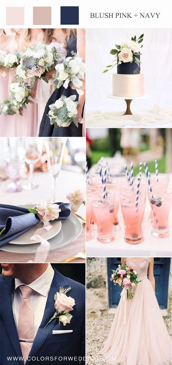 ** Mauve And Navy Wedding Colors ** Top 10 Bush Pink Wedding Color Ideas for Spring 2020 | Ma…