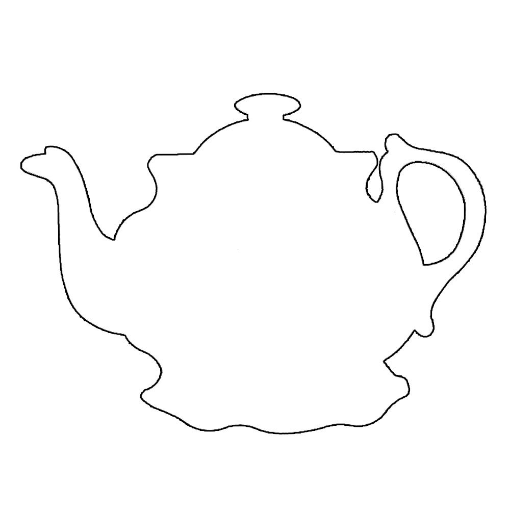 tea pot | Coloring pages | Pinterest | Tea pots, Teas and Template