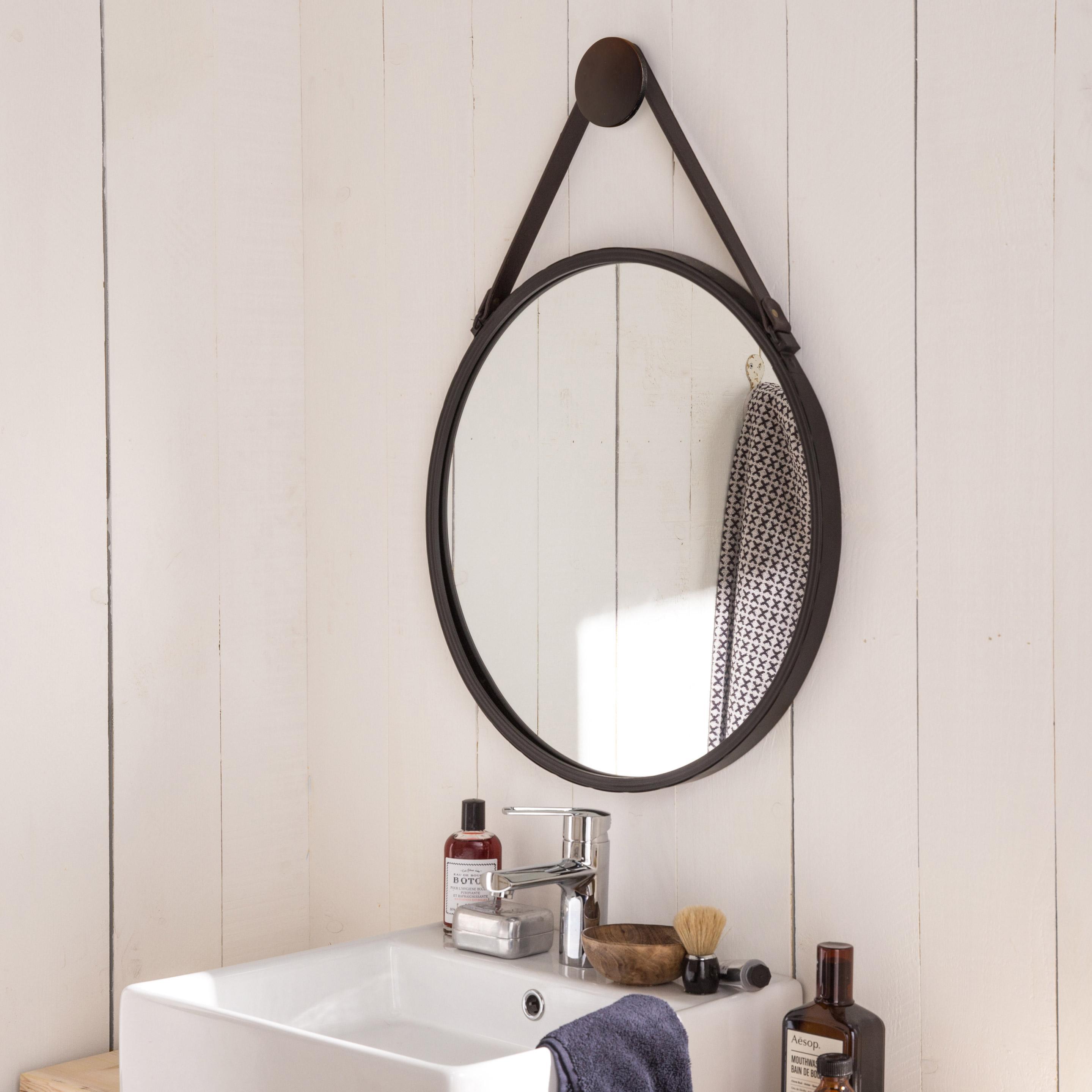 Epingle Par Cheneau Sur Salle De Bains En 2020 Miroir Rond Miroir Coiffeuse Miroir Style Industriel