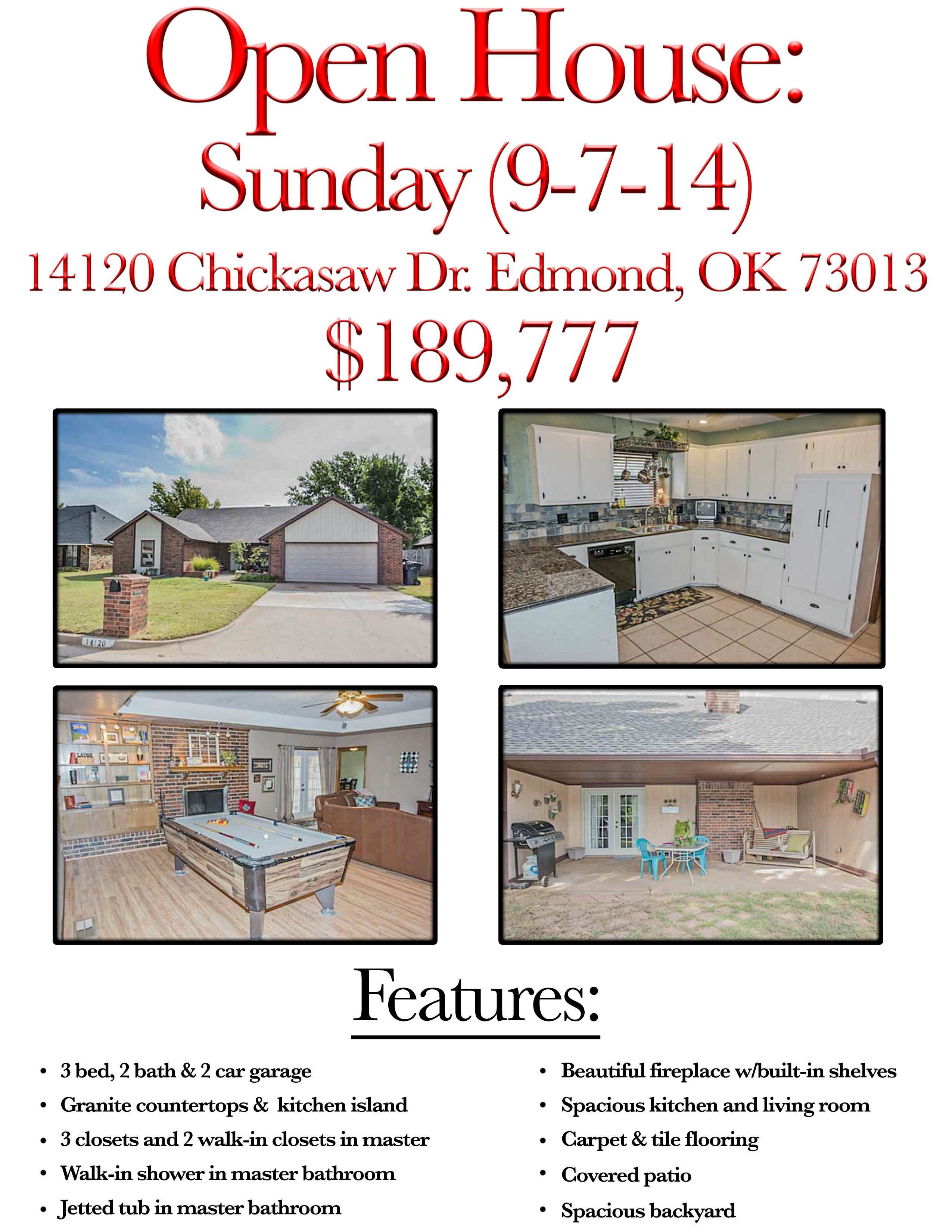 If you are looking for a home in Edmond, you're in luck! Give me a call & stop by on Sunday to see this beauty! #RealEstate #EdmondHomes #HomesinEdmond #BeautifulHomes #OKCHomes #OKC #KellerWilliams #AndrewThomas #MyOKC #Realtor