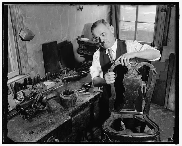 Best White House Cabinet Maker At Work Washington D C Sept 640 x 480