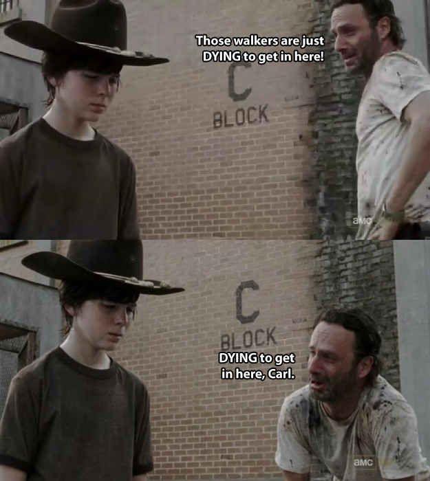 The 19 Greatest Dad Jokes From Rick Grimes Walking Dead Jokes