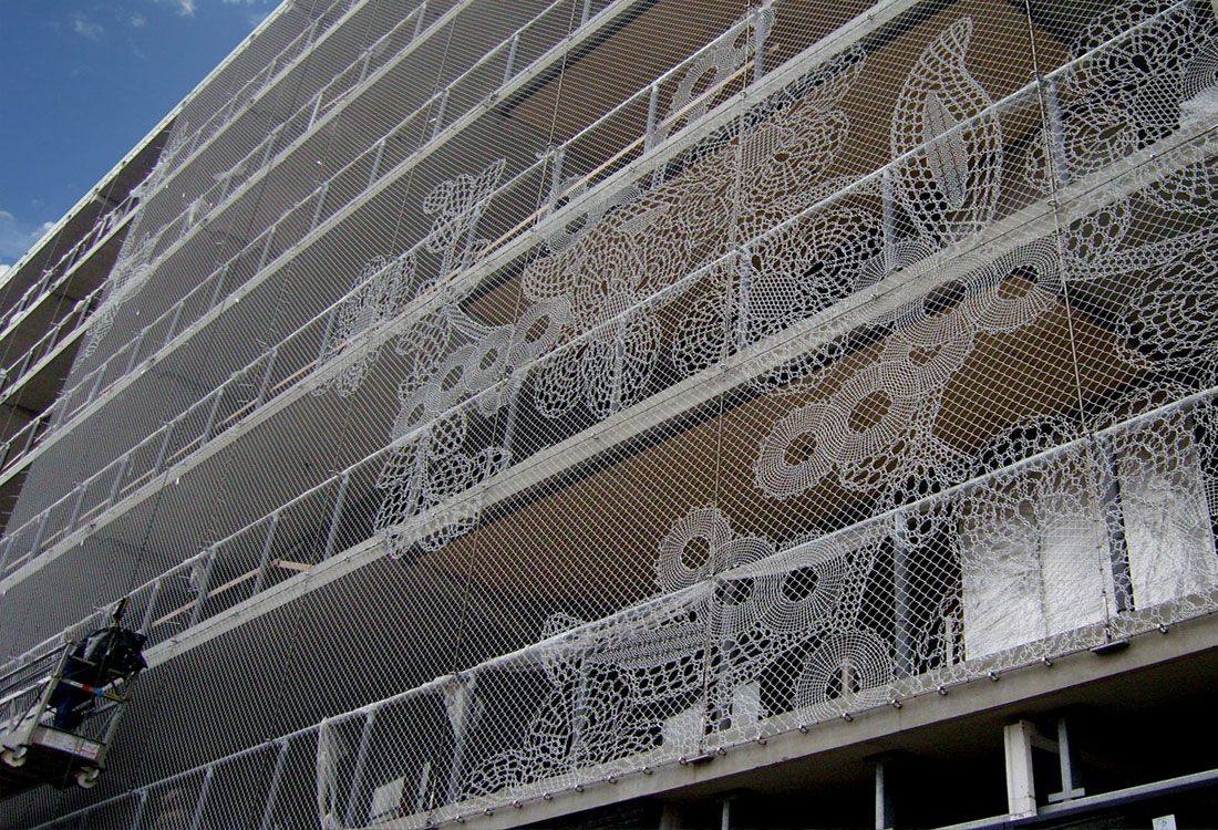 Lace Fence Architectural Fabric | fachadas | Pinterest