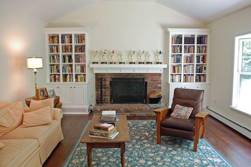 Custom Made Shaker Style Living Room Bookcases Living Room
