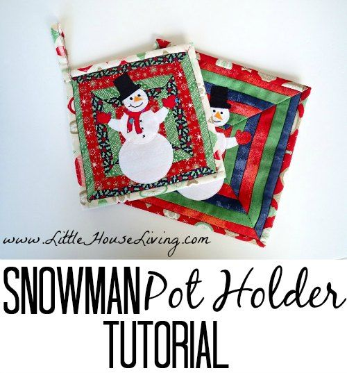 Potholder Sewing Pattern Christmas Sewing Snowman Crafts Sewing Patterns Free