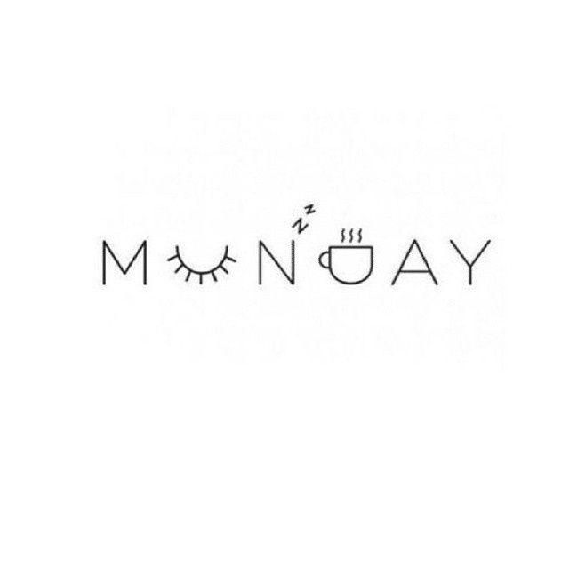 Maandag koffie vroeg rustig lazy weekend handlettering