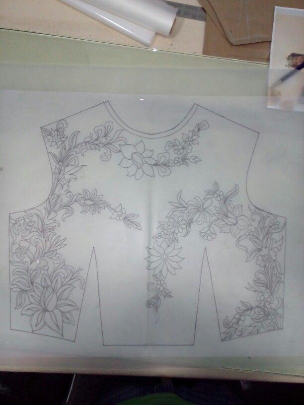 Western conceptual design floral   μοδα   Pinterest   Bordado ...
