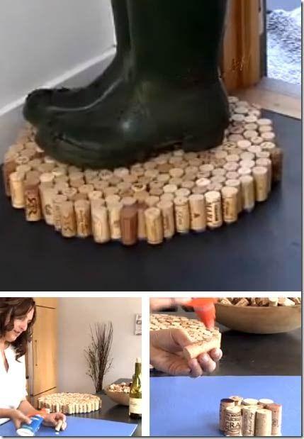 Diy Recycled Cork Floor Mats Wine Cork Crafts Cork Diy Cork Crafts