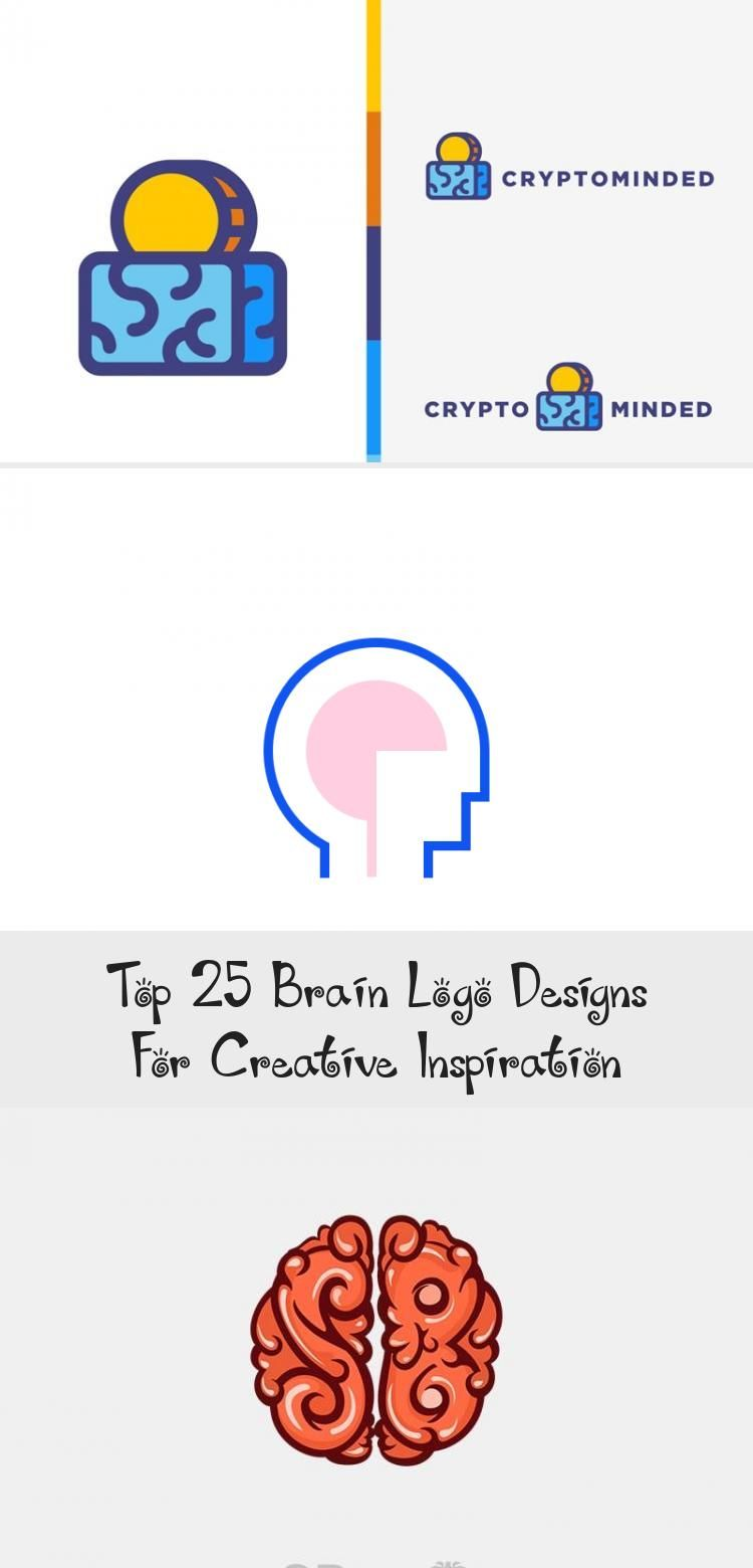 Minimal blue brain logo atop thin modern font for