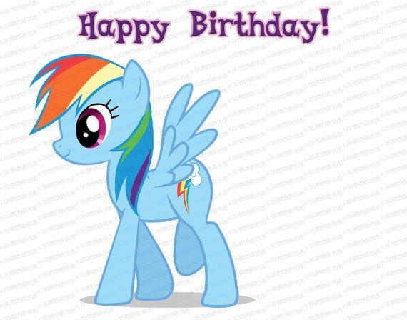 Pin-the-Tail on a My Little Pony (Rainbow Dash, Pinkie Pie, Twilight ...