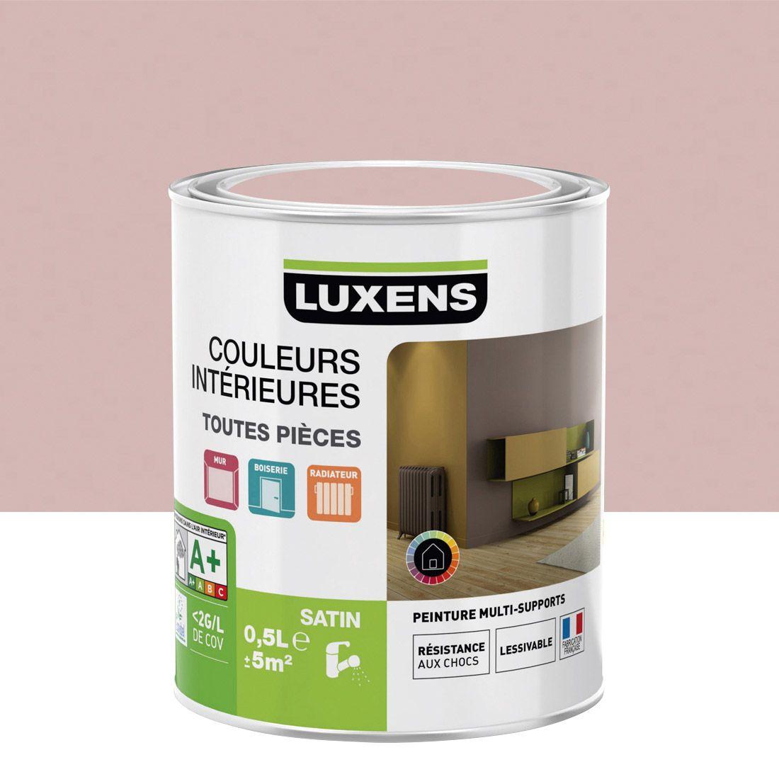 Peinture Multisupports Couleurs Interieures Luxens Rose Blush N 5 Satin 0 5l Couleur Interieure Peinture Interieur Peinture Murale