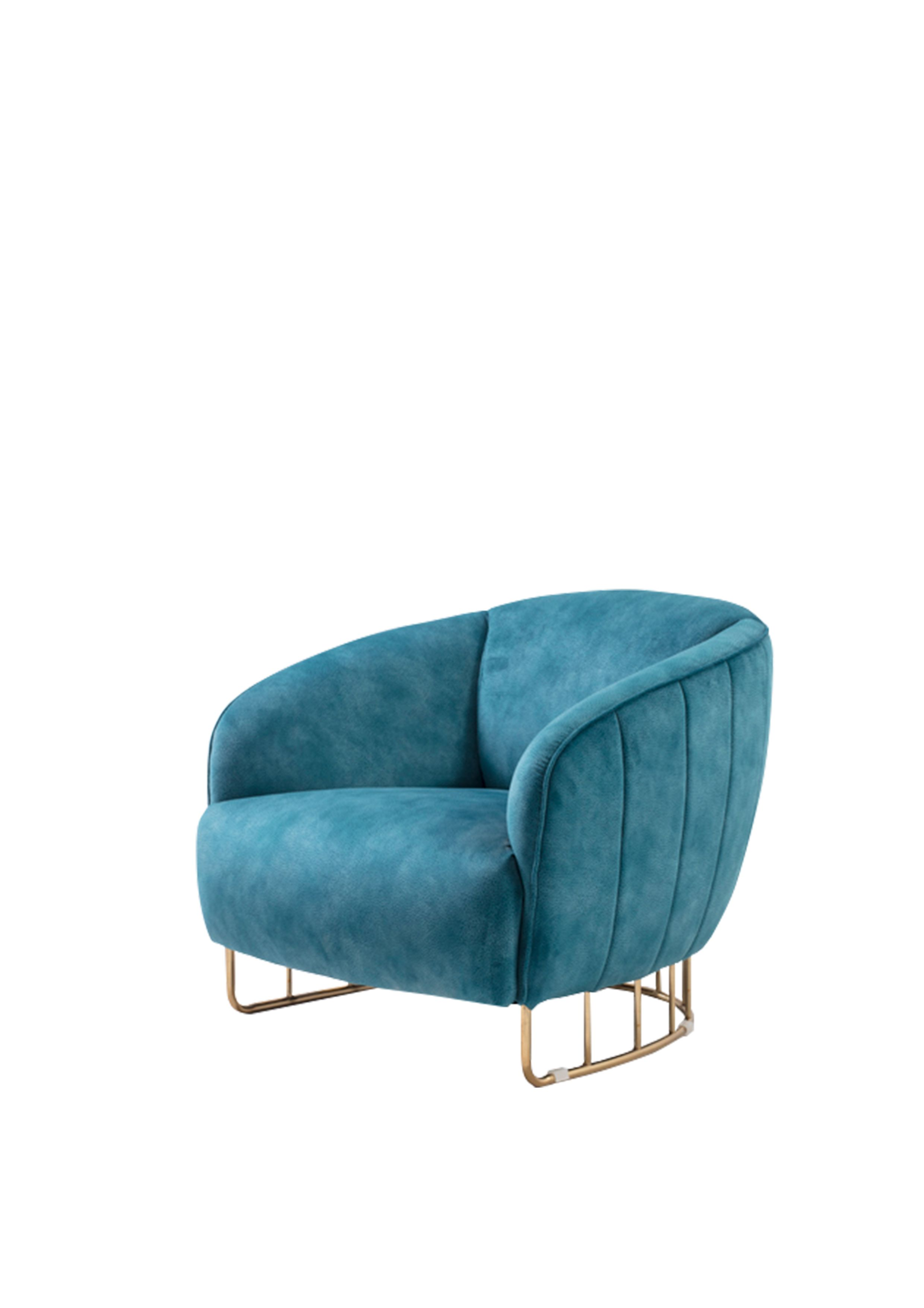 Swell Nordic Style Single Person Sofa Chair Blue Series Metal Lamtechconsult Wood Chair Design Ideas Lamtechconsultcom