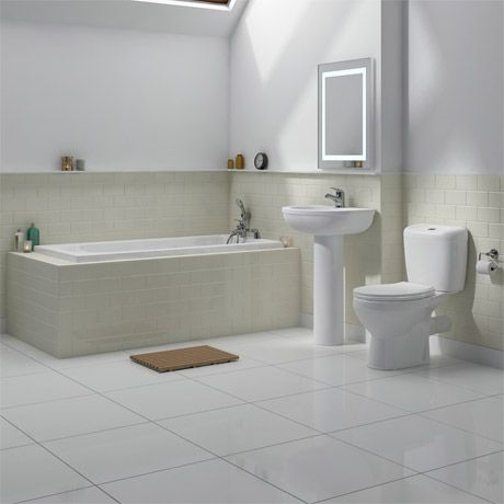 Melbourne 5 Piece Bathroom Suite 3 Bath Size Options At Victorian Plumbing Uk Small Bathroom Suites Stylish Bathroom Bathroom Suite