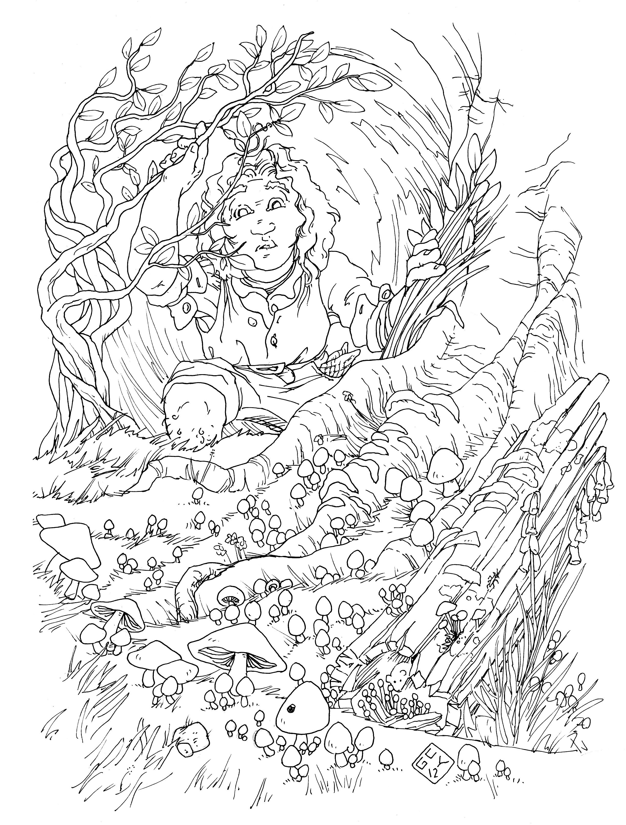 In A Hole In The Ground There Lived A Hobbit Coloring Pages Coloring Pages To Print Free Coloring Pages