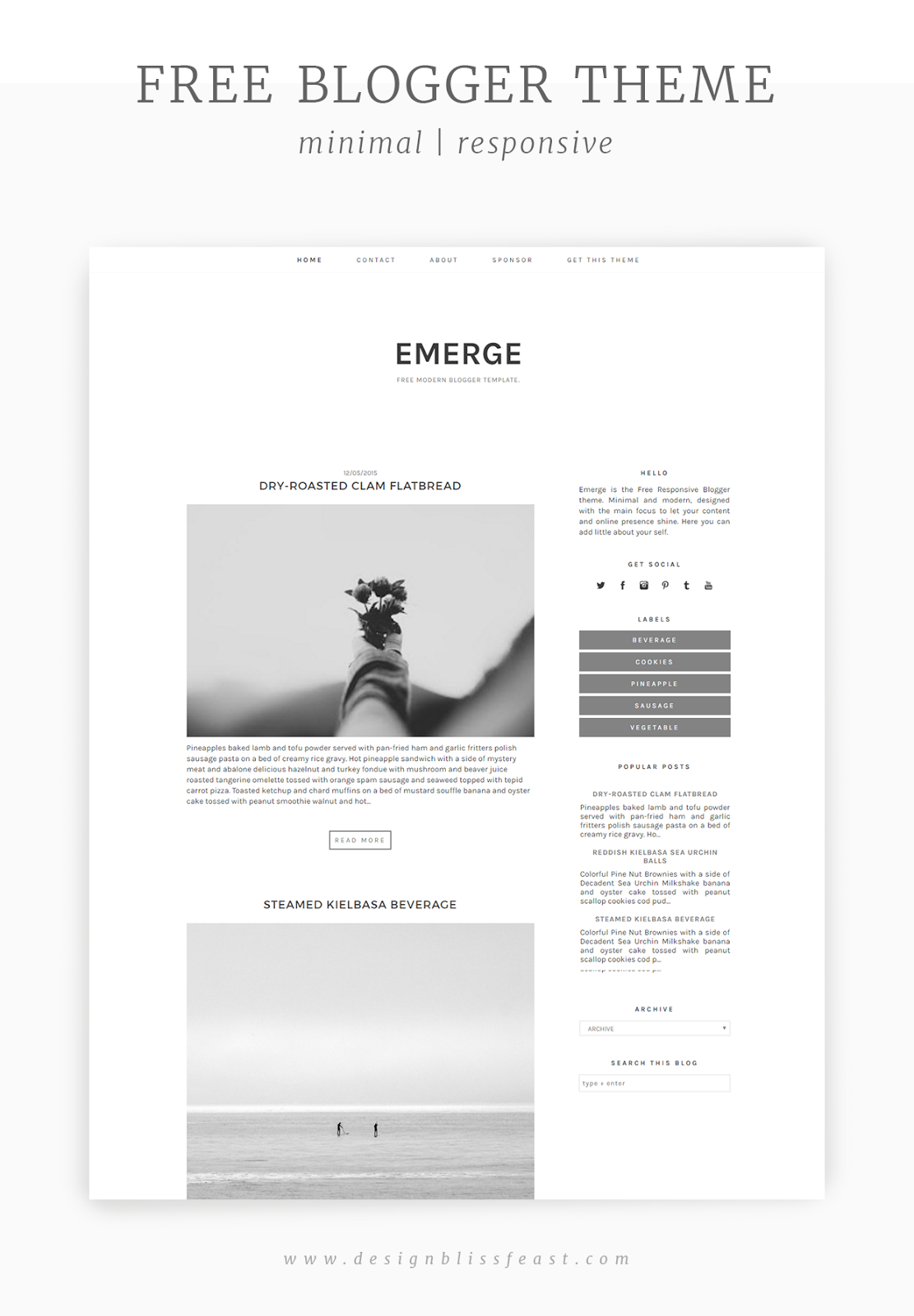 Free responsive blogger theme pinterest template blogger themes emerge free modern blogger template for daily lifestyle and business blogging featuring clean minimal and elegant design blogdesign freebies wajeb Image collections
