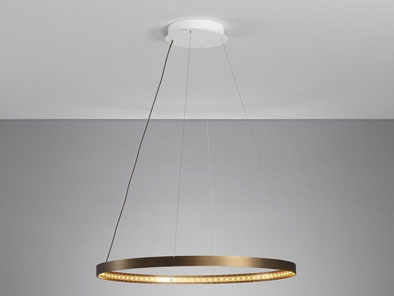 Led Direct Indirect Light Adjustable Steel Pendant Lamp Circle