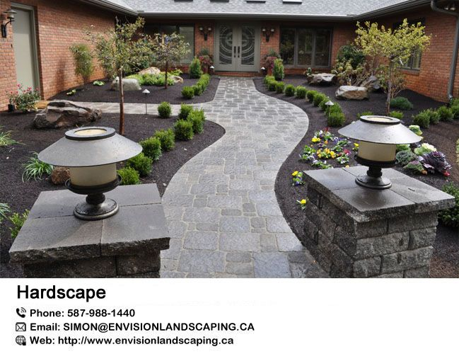 #Hardscape refers to hard landscape materials in the built ...