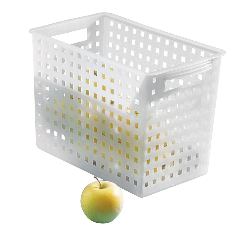 Amazon.com - InterDesign Modulon X4 Storage Basket, Frost - Home Storage  Baskets