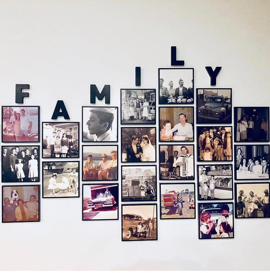 """Mixtiles on Instagram: """"Family walls are the best walls. Congratulations  @hanbluz on being today's #Mixtil…   Family photo gallery wall, Family wall  decor, Mixtiles"""