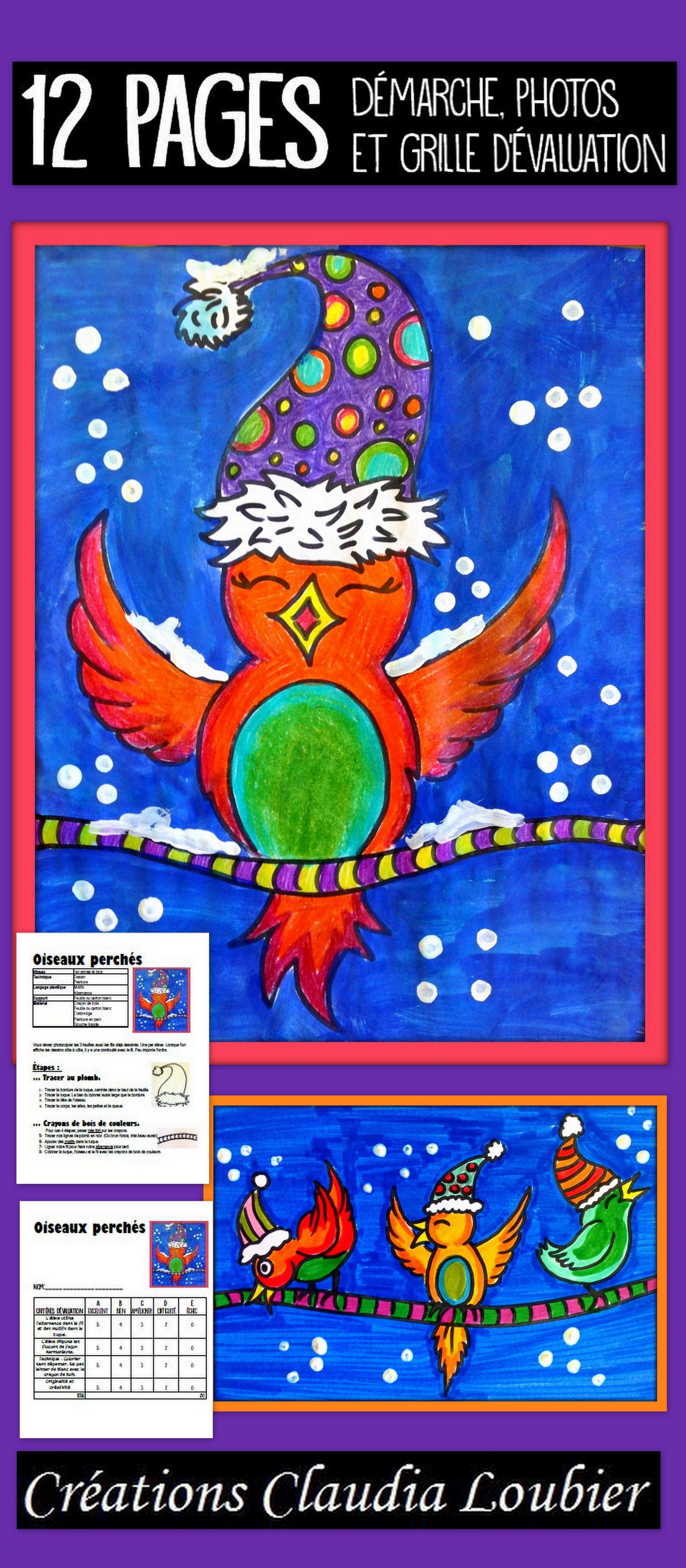 Oiseau perch arts plastiques hiver winter projets d 39 arts plastiques pinterest art - Dessiner un paysage d hiver ...
