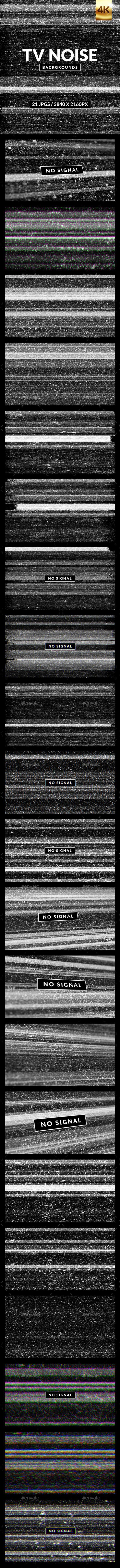 Static tv noise texture  No signal label  Glitch effect
