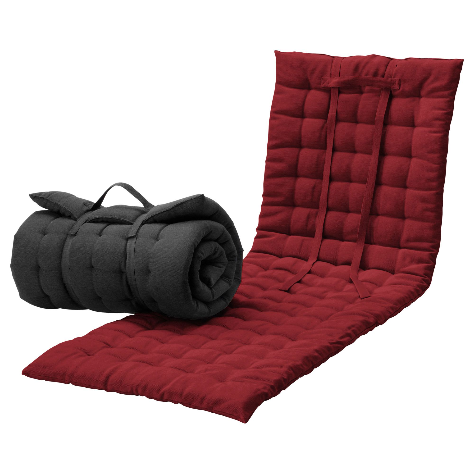 h ll matelas fin bain de soleil noir rouge ikea. Black Bedroom Furniture Sets. Home Design Ideas
