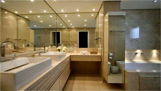 Banheiros claros branco e bege u2013 veja modelos modernos e dicas - modelos de baos