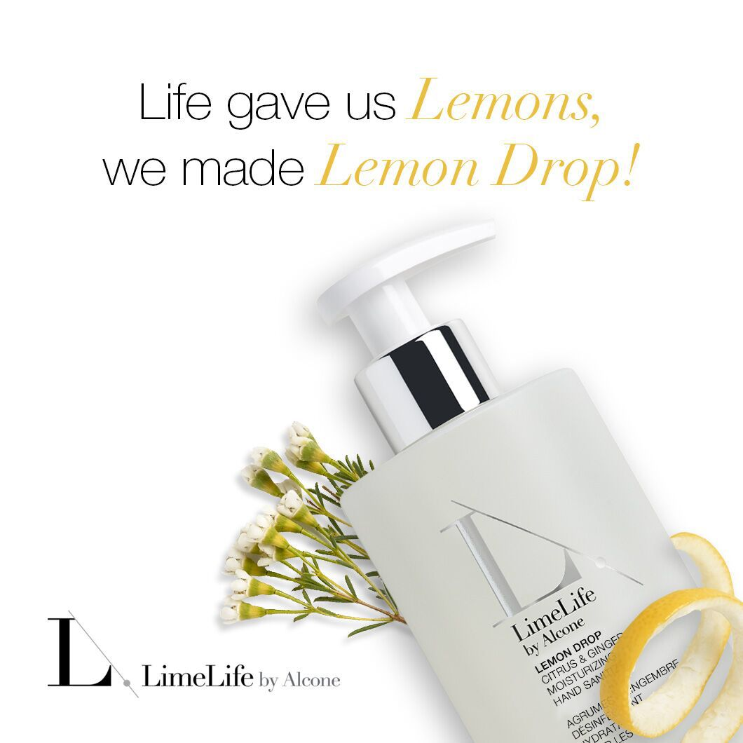 Limelife By Alcone Hand Sanitizer Lemon Drops Lemon Drop