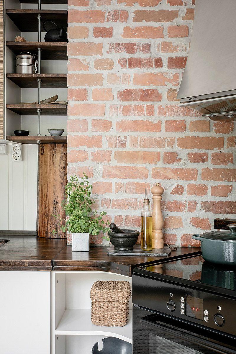 Mieszkanie Z Rustykalna Kuchnia Rustic Kitchen White Wooden Doors Blue Green Bedrooms