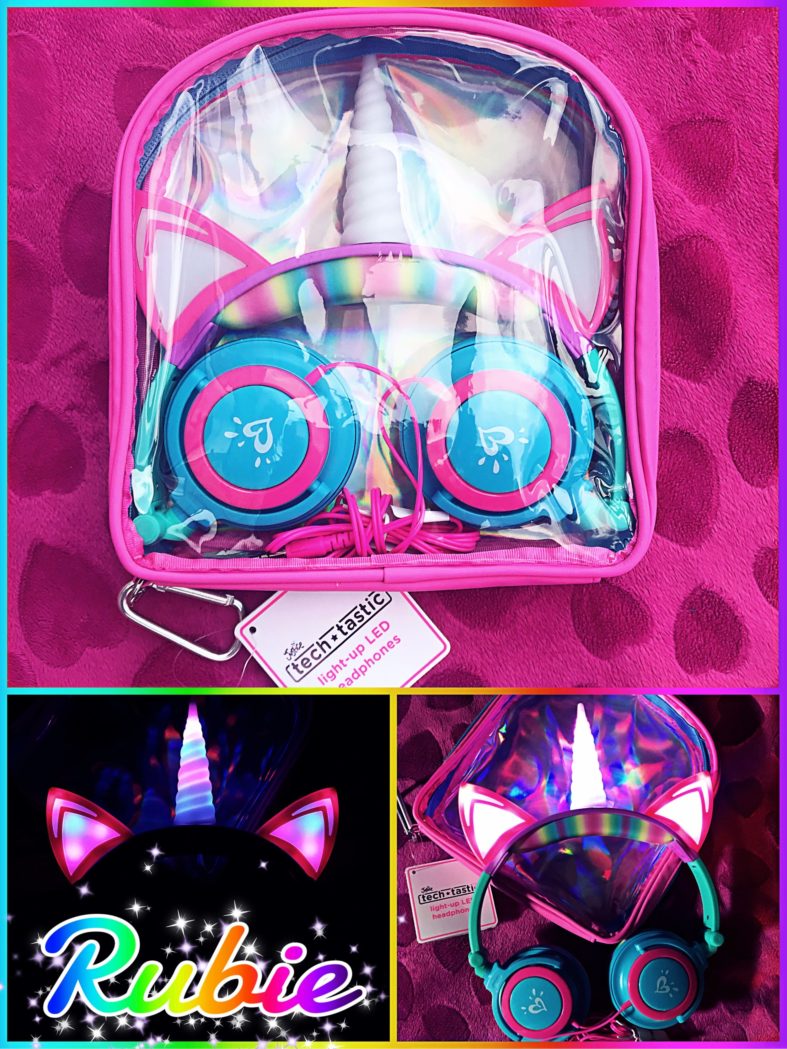 My daughter\'s Light-Up Unicorn Headphones from her favorite store ...