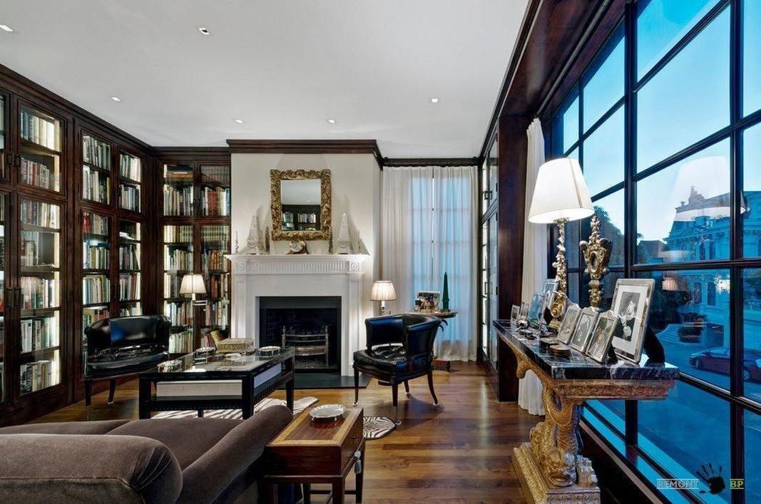 Image result for living room fireplace big windows blue
