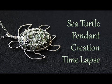 Photo of Making a Sea Turtle Pendant – Time Lapse – Wire Wrapped Jewelry Creation Process
