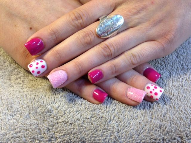 Allure Salon And Spa In Leominster Ma At Vagaro Com Polka Dot Nails Nails Dots Nails