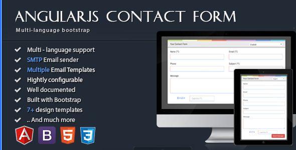 Angularjs Contact Form Html5 Bootstrap Multi Language Codecanyon