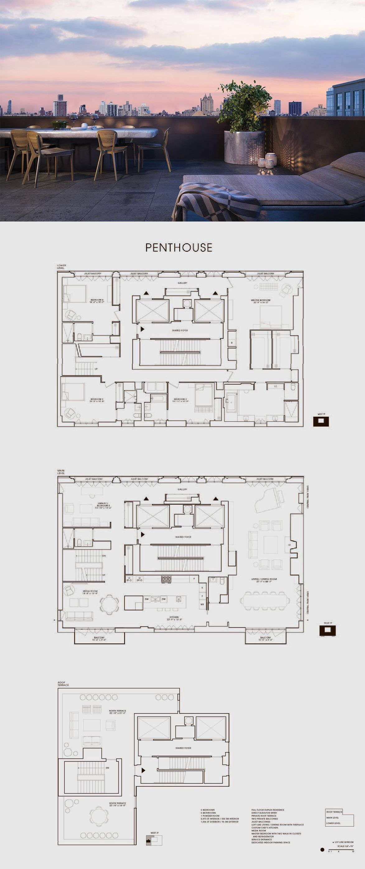 Two Ten West 77 Penthouse Penthouse Apartment Floor Plan Floor Plan Design House Floor Plans