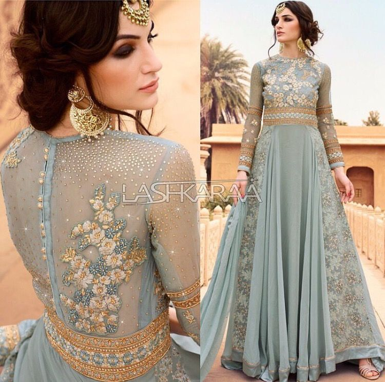 Pinterest pawank90 anarkali pinterest blue colors for Indian wedding guest dresses uk