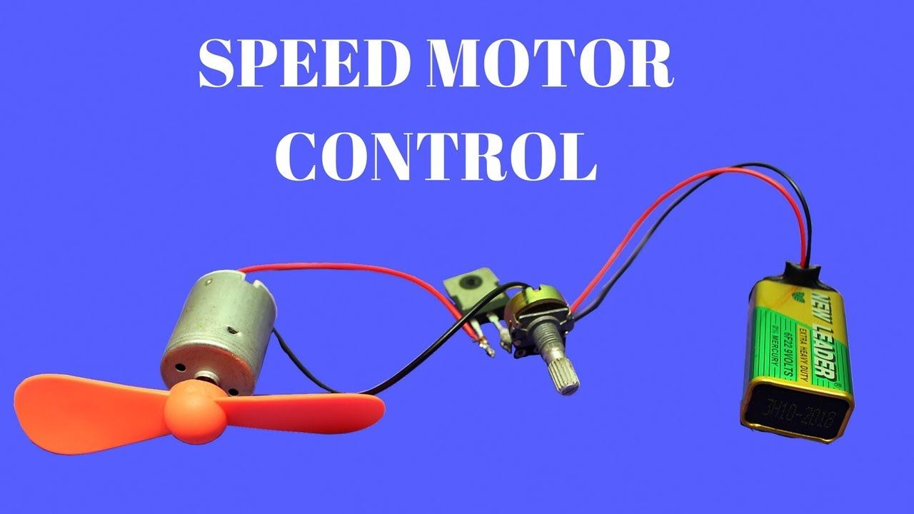 How To Make Dc Motor Speed Controller Simple Dc Motor Speed Control Motor Speed Speed Motor