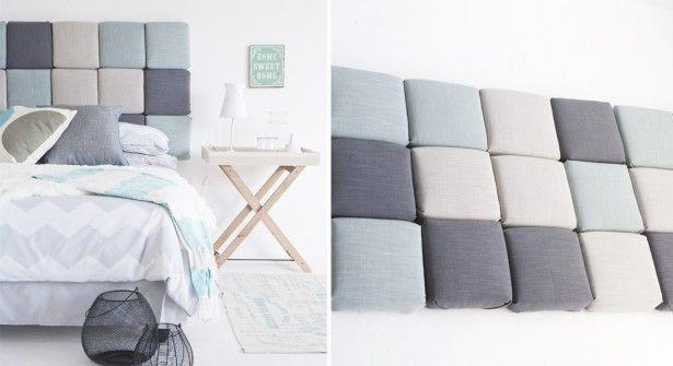 bricolage une t te de lit matelass e bedrooms. Black Bedroom Furniture Sets. Home Design Ideas