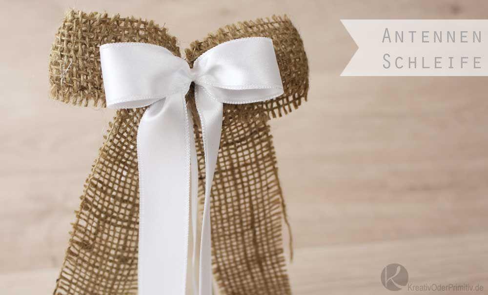 Antennenschleifen Zur Hochzeit Autoschleifen Billige Hochzeitsideen Tischdeko Hochzeit Selber Machen