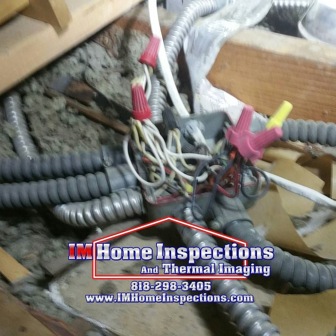 An Electrical Junction Box Missing A Cover Is Shock And Fire Home Wiring Through Attic Hazard These Dangers Are Often Found Hidden In Another Reason To Have