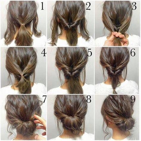 Create A Relaxed Updo In Minutes With This East Step By Step Picture Guide Hair Styles Short Hair Styles Work Hairstyles