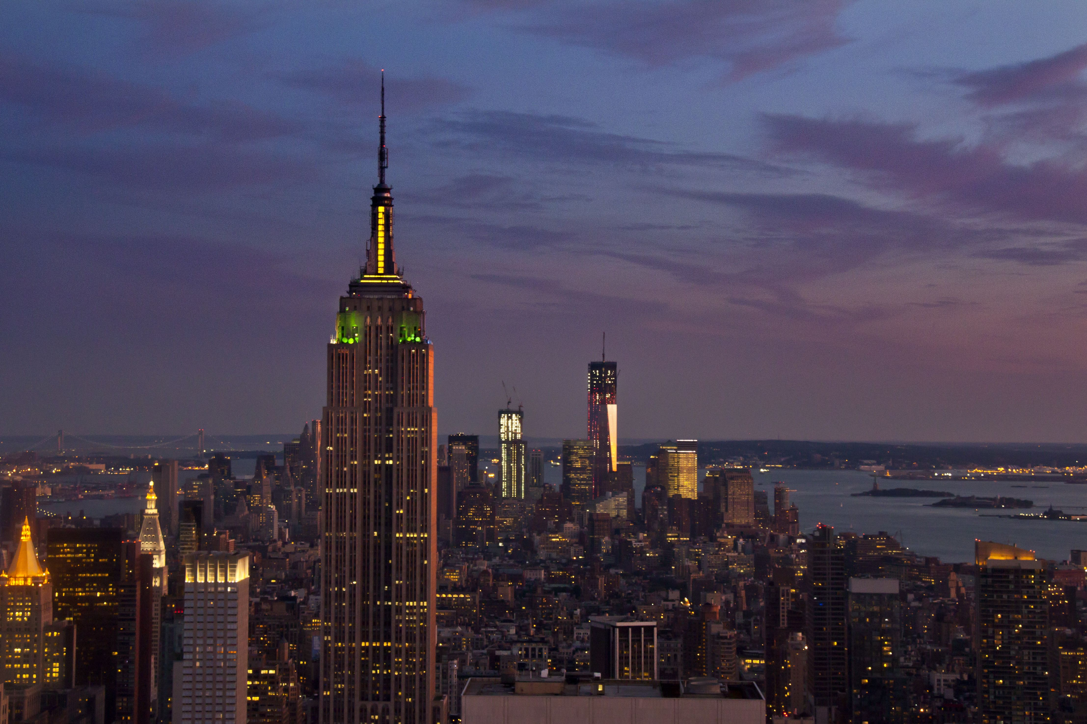 NY from top at sunset __--__ more @ nw7.eu