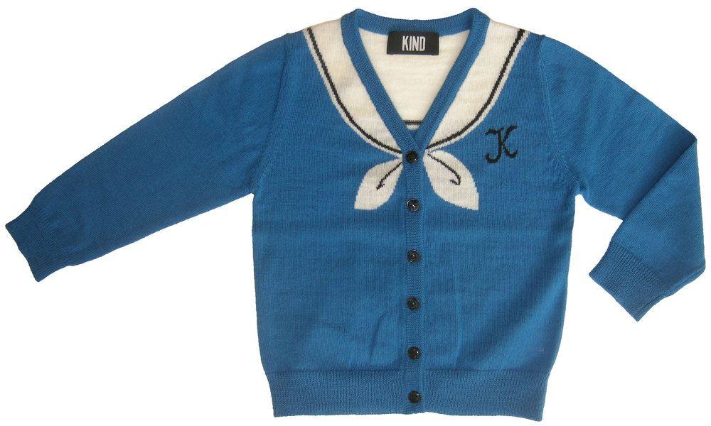 Image of 'Sailor' unisex kids cardigan