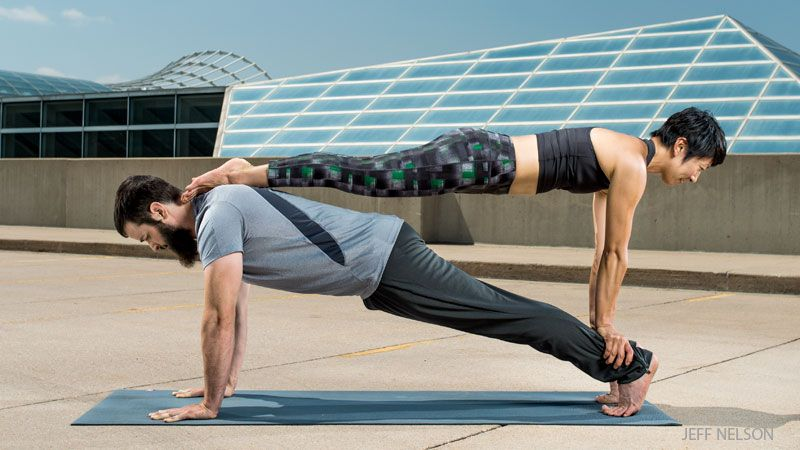 Acroyoga 101 A Classic Sequence For Beginners Yoga Journal Couples Yoga Poses Acro Yoga Poses Couples Yoga