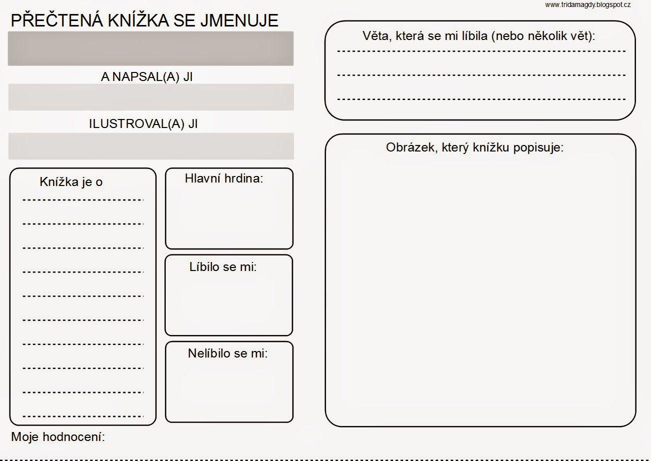 Prvňáci ze školy Jedna radost: Čtenářský deník